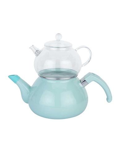 Mint Emaye Çaydanlık Takımı-Tantitoni